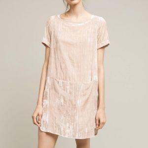 Anthropologie   Floreat Velvet Crinkle Tunic Dress